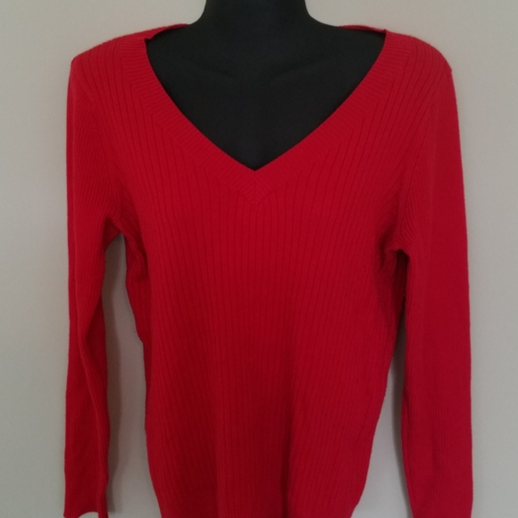 Merona Sweaters - Ribbed red sweater size L